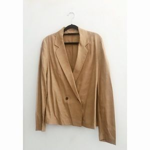 FINAL FLASH- The Row Champagne Silk Blazer